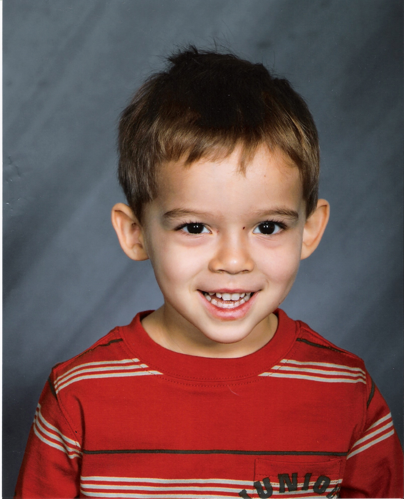 School photo, William John Scott, United Methodist Church Preschool, October 2007