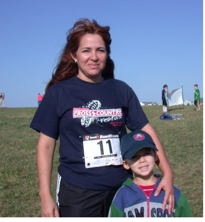 Mommy and Bill, moments before the Manhattan Youth Festival 5K race