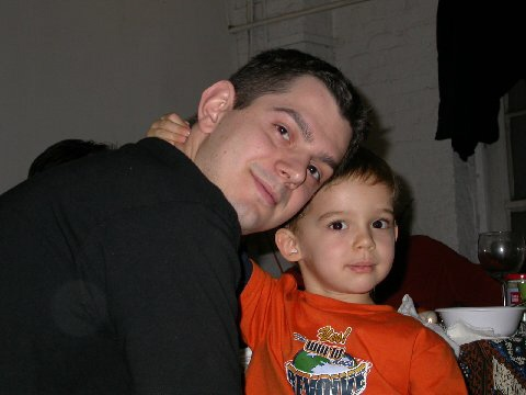 Bill and his big brother, Robbie, at Thanksgiving 2006 in NYC