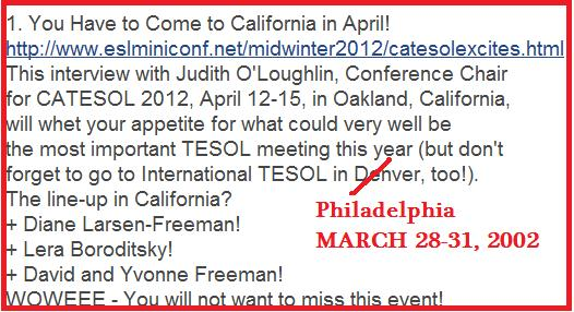 TESOL 2012, Philadelphia, March 28-31