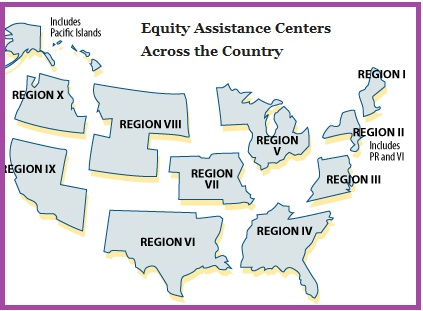The 10 Equity Assistance Centers (EACs) are funded by the U.S. Department of Education under Title IV of the 1964 Civil Rights Act.