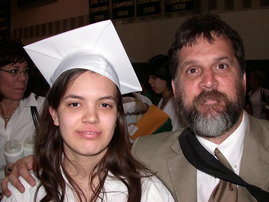 Heather Giselle Scott (new Brewster High graduate) and Robb Scott (Dad)